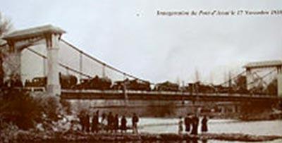 Mise à l'épreuve du po,nt d'Assat en 1938